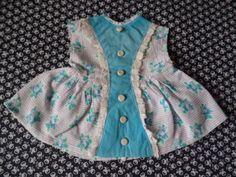 Zuckersuesses-altes-Puppenkleid-Kleidchen-fuer-Puppe