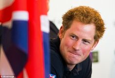 Cheerful: Despite announcing his retirement from the Army, Harry was on typically cheeky form