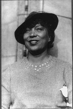 Zora Neale Hurston, Writer, anthropologist and folklorist.  1891 – 1960.  Their eyes were watching God.  Great book.