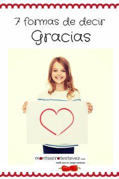 7 formas de decir Gracias. Decir No, Healthy Mind, Positive Psychology, Being Happy, Mexican, Murals, Psicologia, Shapes, Thanks