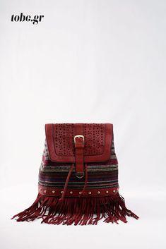 Σακίδιο έθνικ με κρόσσια. Κωδ. 918.004 Τηλ. 2510 241726 Bags, Fashion, Handbags, Moda, Fashion Styles, Fashion Illustrations, Bag, Totes, Hand Bags