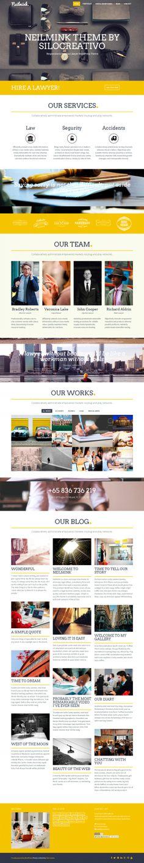Neilmink – Responsive & Parallax Lawyer WordPress Theme