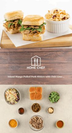 Chef Recipes, Cooking Recipes, Pulled Pork Sliders, 15 Minute Meals, Blue Apron, Chili Lime, Recipe Steps, Home Food, Home Chef