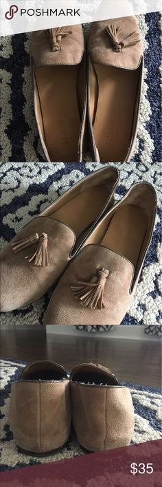 J Crew nude tassel loafers size 9 EUC J. Crew Shoes Flats & Loafers
