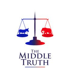 Political logo design for The Middle Truth by The Logo Boutique Political Logos, Logo Design, Middle, Politics, Boutique, Decor, Decoration, Decorating, Boutiques