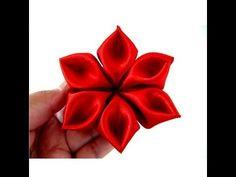 Manualidades y accesorios la hormiga. como hacer flores kanzashi, flores cinta video132 - YouTube