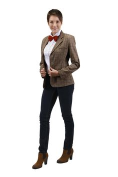 Outwit your enemies and protect the universe from evil as you travel through space and time in the stylish eleventh doctor's jacket - people will trust you when you're the doctor! Materials: 96% polye