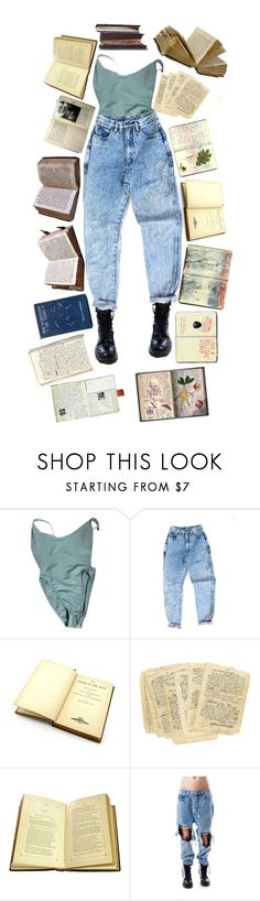 """Read more"" by thewitchishere ❤ liked on Polyvore featuring American Apparel, Moleskine, UNIF and Del Toro"