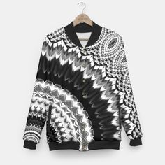 Black white mandala jacket