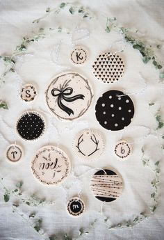 DIY clay ornaments via A Beautiful Mess