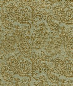 Sage And Cream Paisley Material | Covington Paisley Decor