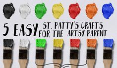 5 Easy St. Patty's Crafts For Artsy Parents - Wisdom, Grace, and Curls