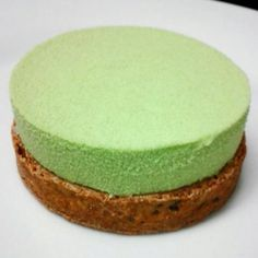Green Tea & Black Sesame Mousse In A Toasted Black Sesame Tart