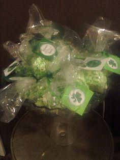 green popcorn balls with recipe