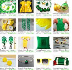 An #Etsy #treasury featuring green gold glitter ornaments via #AbundantArtsVintage http://etsy.me/1zkYbgr