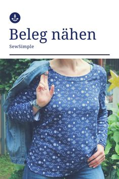 Beleg nähen Diy Couture, Crochet Jacket, Basic Crochet Stitches, Sewing Projects For Beginners, Polka Dot Top, Upcycle, Pullover, Knitting, Shirts