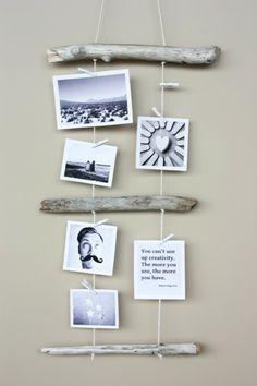 cadre photo intéressant en bois