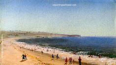 Charles De Wolf Brownell Easton's Beach, Newport, Rhode Island, painting Authorized official website