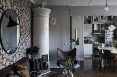 An arty Gothenburg home in rich tones and bold patterns / Alvhem