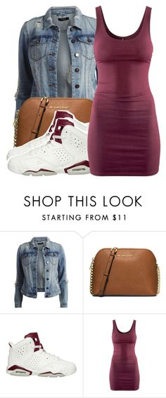 """December 27th 2015"" by ashcake-wilson ❤ liked on Polyvore featuring VILA, MICHAEL Michael Kors, NIKE and H&M"