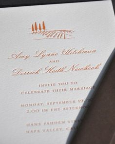 """See the """"Napa Valley, California"""" in our Destination Invitations gallery"""
