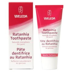 Pasta de dinti bio cu ratanhia, anticarii, fara fluor, 75ml, Weleda - Sabedoria