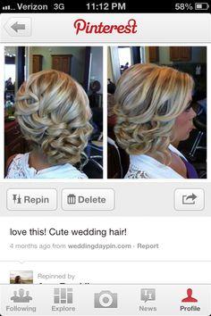 Wedding hair style - very cute!