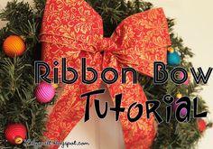 Lilyquilt: Christmas Wreath Ribbon Bow Tutorial