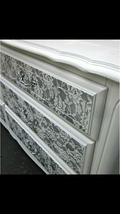 Gorgeous lace effect chest of drawers ...