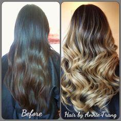 Annie Trang Stylist - Brea, CA, United States. Hair cut and ashy blonde ombré!