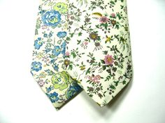 Mens Liberty of London Print Neckties,  Floral Eloise Neckties, Custom Neckties, Cotton Neckties, Necktie, Neckties,  Wedding Neckties. $36.00, via Etsy.