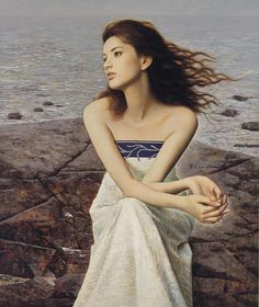 traditional Chinese painting of beautiful women  | Romantic Oil Paintings Of Beautiful Chinese Girls By Xie Chuyu