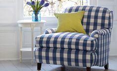 The check looks fab as upholstery!!  Melbury - Cotton Stripes & Checks - Romo Fabrics