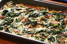 Kalyn's Kitchen®: Red Russian Kale and Red Onion Savory Breakfast Squares Recipe