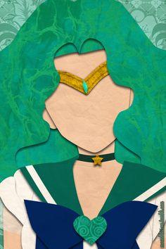 Sailor Neptune (faux papercraft, moonblossom.tumblr.com)