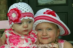 Easter hats - Free crochet patterns by Sharon Frazier