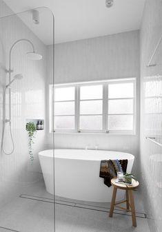 Bathroom decor, Bathroom decoration, Bathroom DIY and Crafts, Bathroom Interior design Wet Room Bathroom, Bathroom Renos, Laundry In Bathroom, Grey Bathrooms, Bathroom Layout, Bathroom Renovations, Bathroom Ideas, Remodel Bathroom, Bathroom Organization