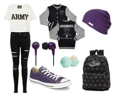 """Untitled #25"" by cece11123 on Polyvore featuring NLST, Miss Selfridge, Converse, Vans and Eos"