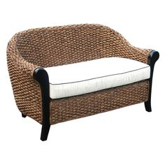 The Chic Teak Soldano Water Hyacinth Loveseat is a study in contrasting textures, colors, and styles. The exterior of this unique piece features. Oriental Furniture, Teak Furniture, Living Furniture, Outdoor Furniture, Outdoor Decor, Cane Furniture, Adirondack Chairs For Sale, Water Hyacinth, High Quality Furniture