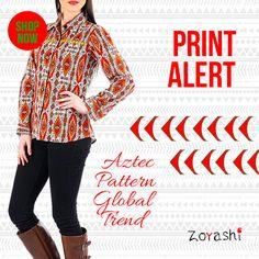 New print in the Block!!!  Zoyashi brings to you the latest range of Printed Jackets & Co-ord Sets!! For more, log onto: http://zoyashi.com/collections/jackets-shrugs or visit our studio: C-14 Sushant Lok, Phase-I, Gurgaon #New #Print #Alert #NewCollection #Aztec #Love #Zoyashi #NewPrintInTheBlock #MadeInIndia #RockThisLookWithZoyashi
