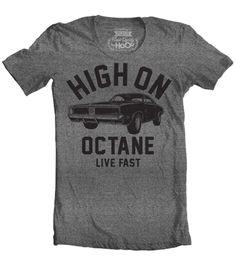 Women's HoO High on Octane Charger Big Block Muscle Car Gym Workout T-Shirt