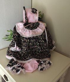 Bebê, menina, equipamento, vestido, fralda, cobrir, boné, original, aniversário bebê, 3, parte, recém-nascido, conjunto, espanhol,