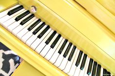 Bright and Happy Yellow Piano upclose {Lessons Learned} Fresh Idea Studio.com