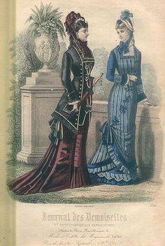 Natural Form victorian dress. Stripes on the right and a lovely jacket bodice on the left