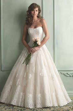 Stunning lace ball gown. Allure, 2014