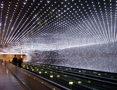 Leo Villareal, Multiverse, permanent installation at the National Gallery of Art, Washington, DC