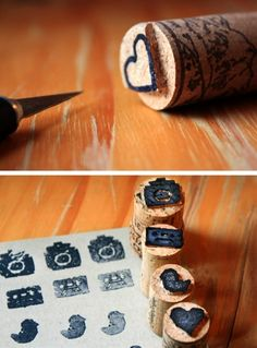 These cork stamps are such a great idea to try! Lo