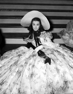 Vivien Leigh on the set of Gone With The Wind, 1939.
