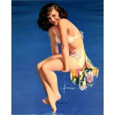 Rolf Armstrong – Twinkle Toes, Original 1950 Pin Up Calendar American Illustration, Illustration Art, Illustrations, Rolf Armstrong, Golden Age, Pin Up, Calendar, Wonder Woman, Superhero