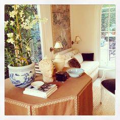 Mark D Sikes via Instagram, Skirted Table